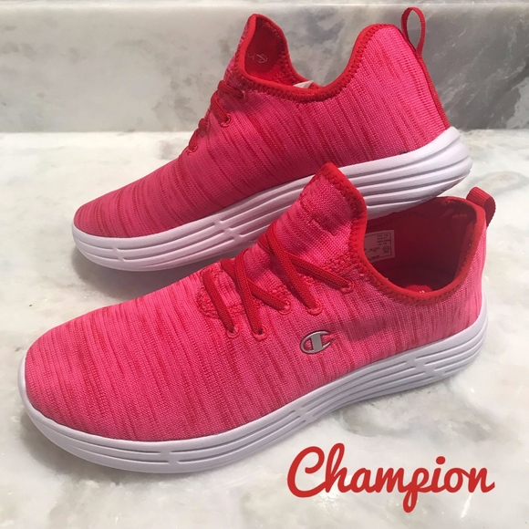Champion Womens Adapter Red Sneakers